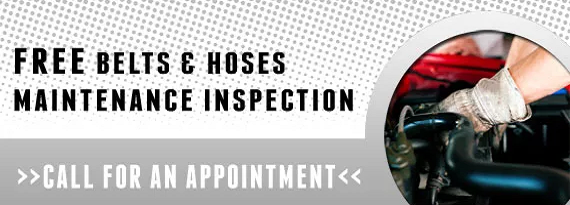 Free Belts and Hoses Inspection in Bismarck ND & Mandan ND